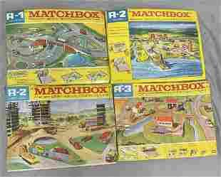 4 Matchbox 1968 Roadway Layouts