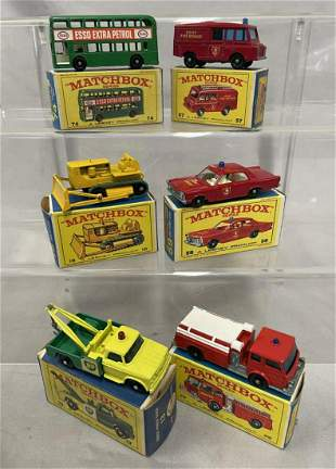 6 Boxed Matchbox Regular Wheels Vehicles