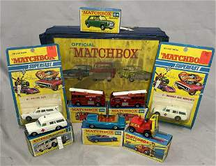 7 Boxed Matchbox Early Superfast Vehicles, Plus