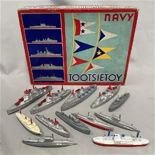 Boxed TootsieToy 5750 Navy Set, Plus