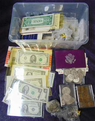 Estate Coin and Currency Collection.
