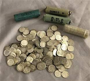 U.S. Silver Dime Lot.