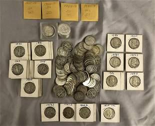 U.S. Silver Half Dollar Lot.