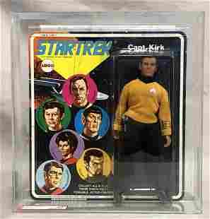 1975 MEGO Star Trek, Capt. Kirk AFA U85, Signed