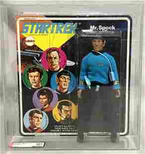 1975 MEGO Star Trek, Mr. Spock AFA U85, Signed
