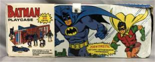 1973 Ideal Batman & Robin Playcase, Complete
