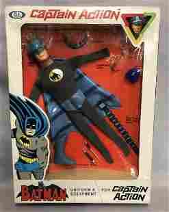 1966 NIB Captain Action Batman Uniform, Ideal