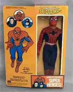 "1977 MEGO WGSH Spider-Man, NRFB 12.5"" Figure"