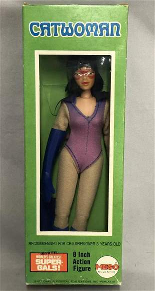 """1973 MEGO WGSH Catwoman 8"""" Figure in Orig Box"""