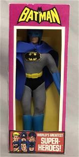 """1974 MEGO WGSH Batman 8"""" Figure, w/Repro Box++"""