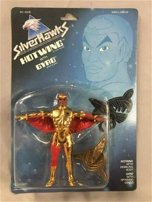 1986 MOC Silverhawks Hotwing Action Figure, Kenner