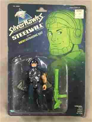 1987 MOC Silverhawks Steelwill Figure, Kenner