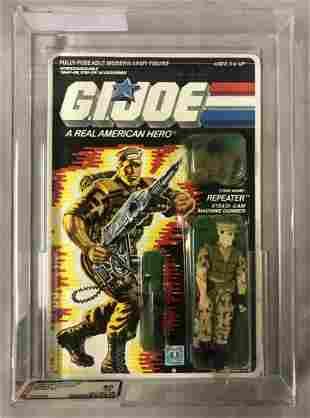 1988 GI Joe Repeater Figure, 34 Back, AFA 80 NM