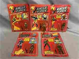 1981 MEGO Eagle Force Diecast Figures, Lot of 5