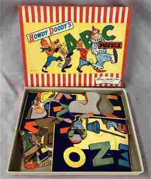 Howdy Doody ABC. Puzzle Set Boxed.