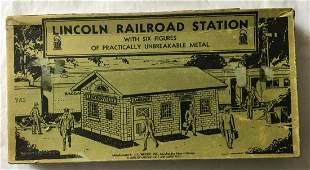 Lincoln Log Railroad Station Boxed.