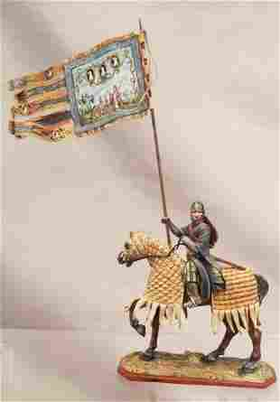 St Petersburg Mounted Templar Knight With Banner