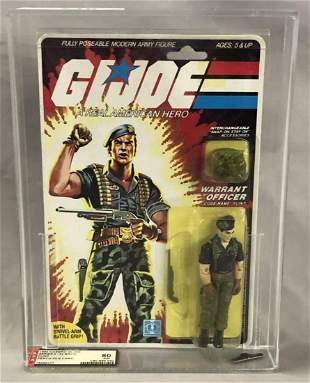 1985 GI Joe Flint Figure, 34 Back, AFA 80 NM