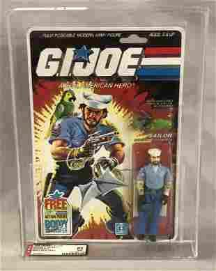 1985 GI Joe Shipwreck Figure, 36 Back, AFA 85 NM+