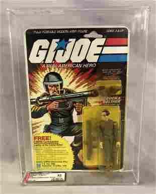 1982 GI Joe Zap Figure, 9 Back, AFA 85 Y-NM+