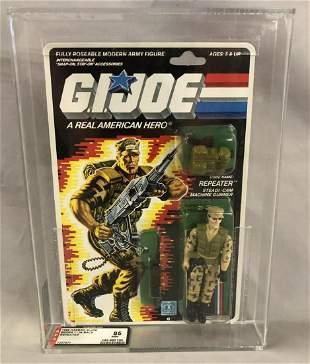 1988 GI Joe Repeater Figure, 34 Back, AFA 85 NM+