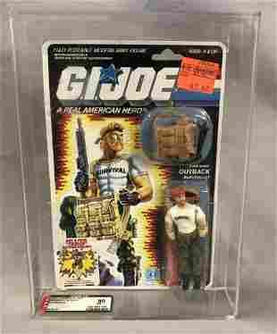 1987 GI Joe Outback Figure, 34 Back, AFA 80 NM