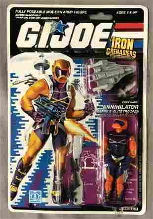 1989 MOC GI Joe Annihilator Figure, 34 Back