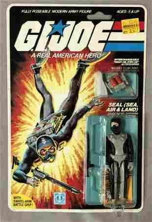 1985 MOC GI Joe Torpedo Seal Figure, 34 Back