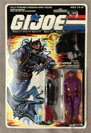 1988 MOC GI Joe Hydro Viper Figure, 34 Back