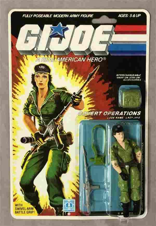 1985 MOC GI Joe Lady Jaye Figure, 36 Back