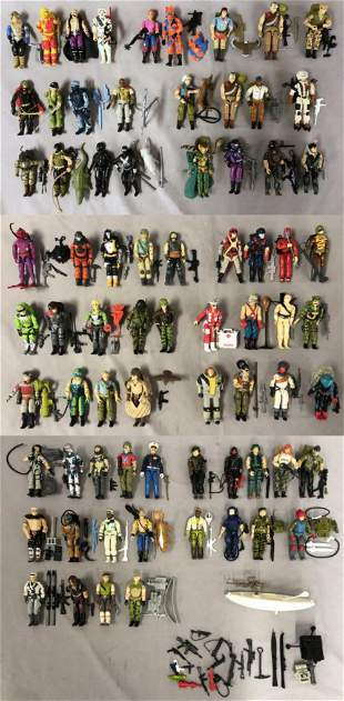 Hasbro GI Joe, 73 Loose Figures, Many Complete