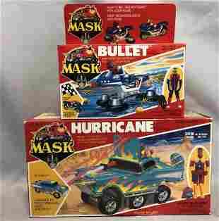 1986 MISB MASK Bullet & Hurricane Vehicles, Kenner