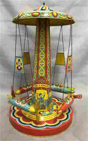 Tin Litho Windup J. Chein Ride-A-Rocket