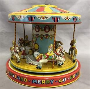 Tin Litho Windup J. Chein Playland Merry Go Round