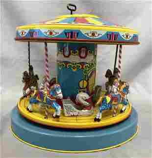 Tin Litho Windup J. Chein Merry Go Round