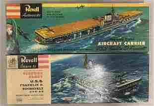2 Revell U.S.S. Franklin D. Roosevelt Model Kits