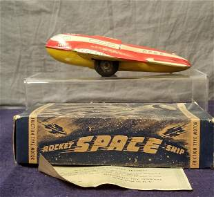 Early Boxed Automatic Toys Rocket Ship