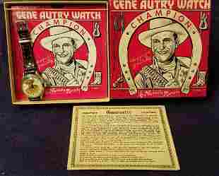 Boxed Gene Autry Wrist Watch