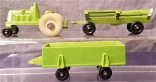 3pc Farm Tractor Manoil Prototypes