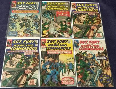 Sgt. Fury Mixed Lot of Silver Age Books.