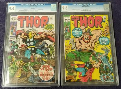 Thor Lot of Two CGC Graded.