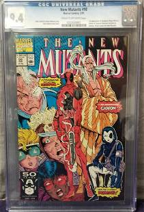 New Mutants #98 CGC Graded.
