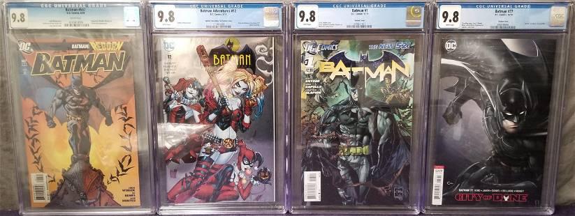 "Lot of Four Batman ""Family"" CGC 9.8 Books."