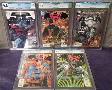 Lot of Five High Grade Modern DC Comics.