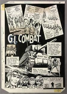 Joe Kubert, GI Combat Sampler Illustration Art