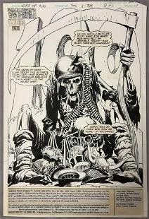 Joe Kubert, Weird War Tales #100, Comic Art Page