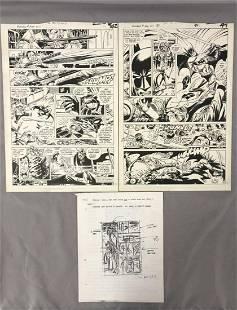 Joe Kubert, Batman #400, 2 Original Comic Art Pgs