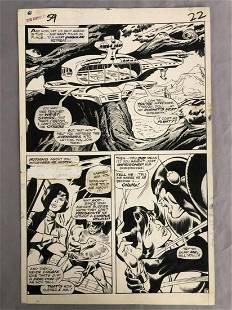 1968 Avengers #59, John Buscema Orig Comic Art Pg