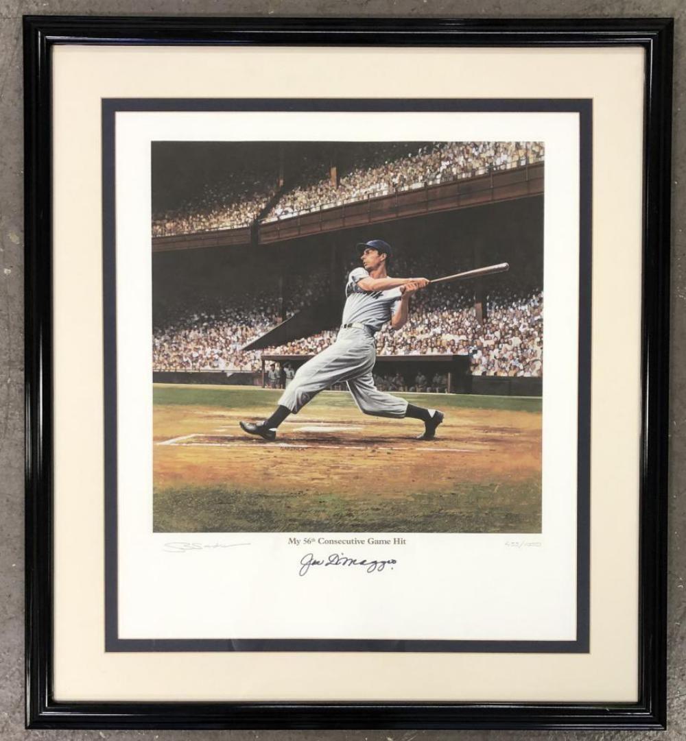 Joe DiMaggio Signed Lithograph, Stephen Gardner