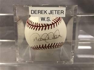 Derek Jeter Signed Baseball w/ JSA Letter